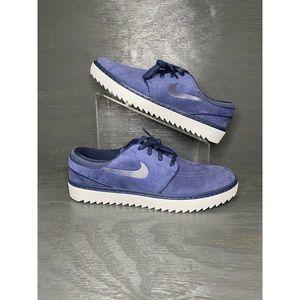 NIKE Janoski G Golf Shoes Suede Navy Blue